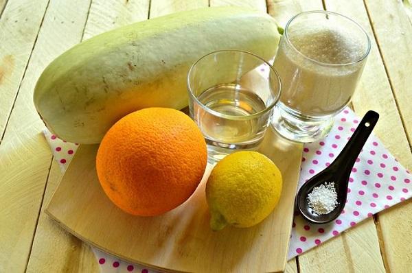 Из кабачков и апельсина