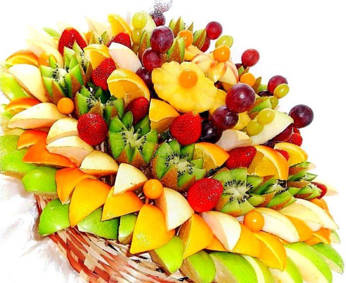 Букет из фруктов своими руками на Новый Год