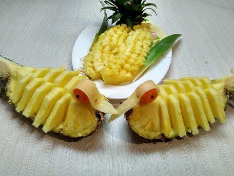 как чистить ананас 9