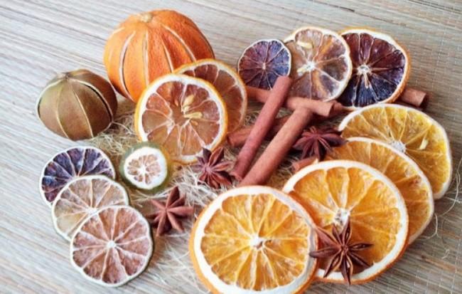 Как засушить апельсин для декора: духовке, микроволновке, батарее
