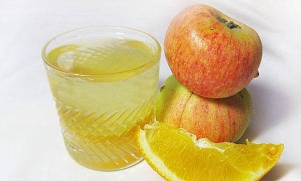 Компот из апельсинов с яблоками