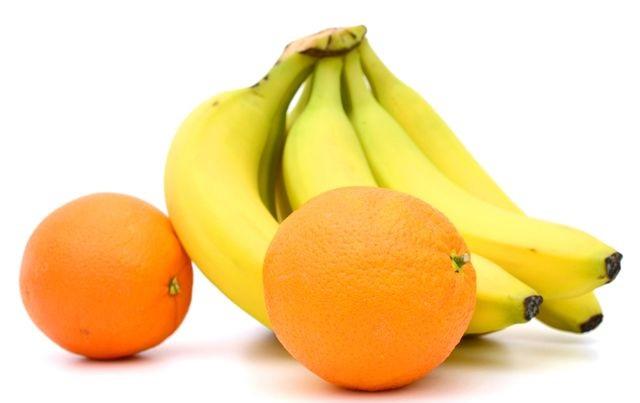 Сок из апельсина и банана