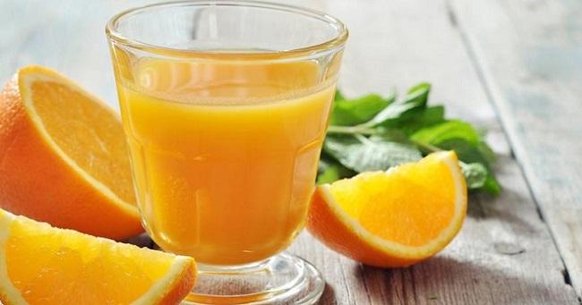 Сок из апельсина и лимона