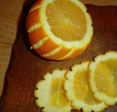 Как нарезать апельсин 2