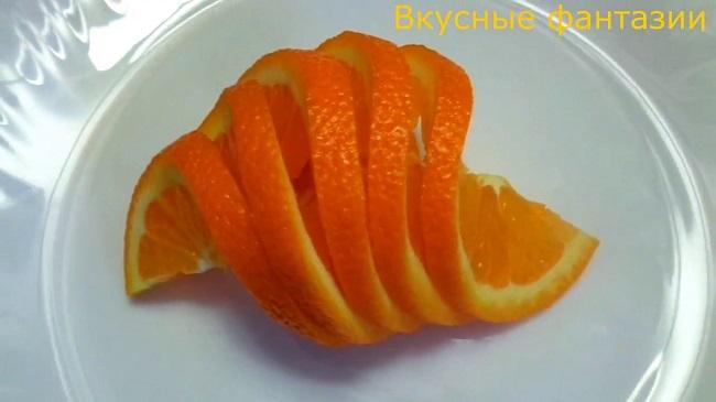 Как нарезать апельсин 5