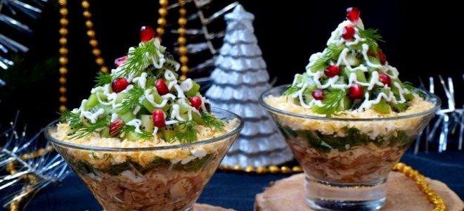 Салат с киви - простые и вкусные, праздничные рецепты с пошаговым фото